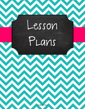 {Lesson Plan Binder Cover Freebie} Turquoise Chevron Chalk