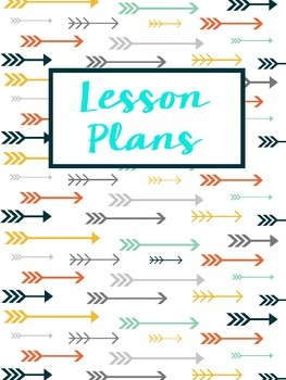 Lesson Plan Binder Cover Tribal Arrows Freebie