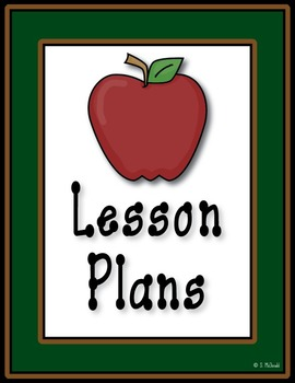 Lesson Plan Book, 42 Weeks  - School Theme - Just click th