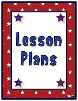 Lesson Plan Book, 42 Weeks -Stars & Stripes Theme - Just c