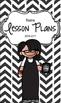 Lesson Plan Book & Planner {Black Hair & Glasses: Black He