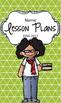 Lesson Plan Book & Planner {Black Hair & Glasses: Green Tr