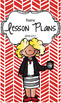 Lesson Plan Book & Planner {Blonde Hair & Glasses: Red Her