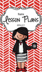 Lesson Plan Book & Planner {Black Hair: Red Herringbone}