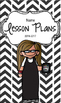 Lesson Plan Book & Planner {Brown Hair & Glasses: Black He