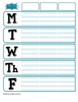 Lesson Plan Book Templates Bundle