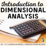 Lesson Plan Bundle: Dimensional Analysis - Notes, HWs, War