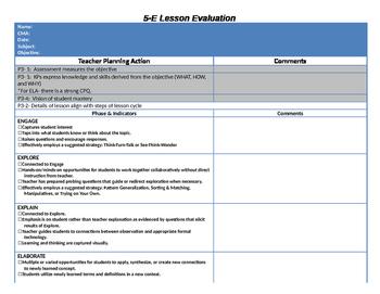 Lesson Plan Evaluation Tool