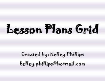 Lesson Plan Grid