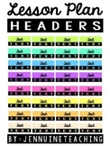 Lesson Plan Header Stickers