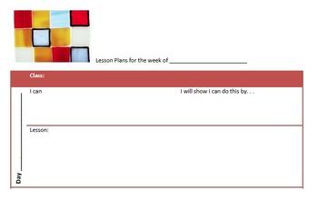 Lesson Plan Printable