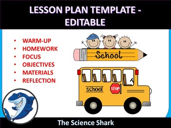 Lesson Plan Template - Editable/ MS Word