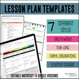 Lesson Plan Templates - Multiple Editable Templates {Googl