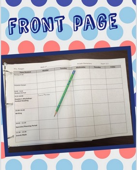Weekly Lesson Plan Template - Editable
