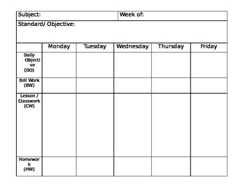 Lesson Plan Template: Fill in the blanks