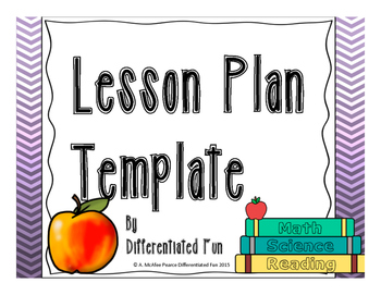 Lesson Plan Template Ideal for Special Education/ELL