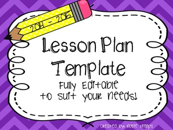Lesson Plan Template {Landscape Layout}