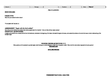 Lesson Plan Template for Any Grade