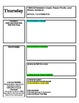 Lesson Plan Template for Block Schedule Week Time Frame