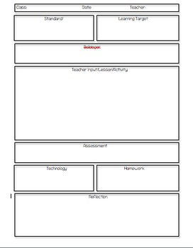 Lesson Plan Template for Middle Grades