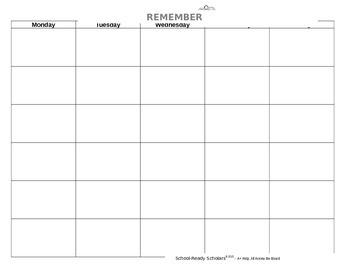 Template - Lesson Plans/Other Organizers
