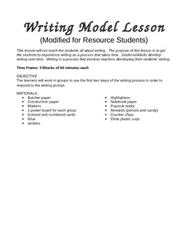 Lesson/ PowerPoint for the Prewriting & Rough Draft Stage
