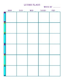 Lesson Planner Pages