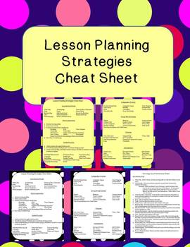 Lesson Planning Cheat Sheet