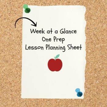Lesson Planning Sheet