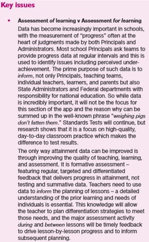 Lesson Planning: The Menu. Chapter G - Assessment for learning