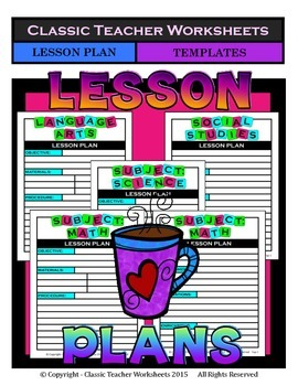 Lesson Plans - Lesson Plan Templates - Variety of Subjects