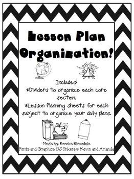 Lesson Plans Organization