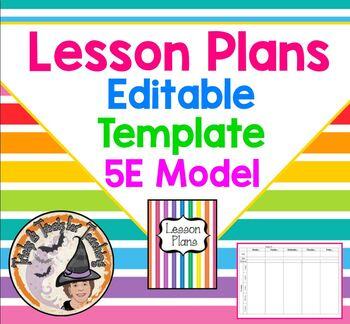 Lesson Plans Template BLANK 5E Model