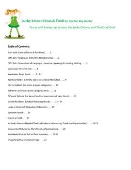 Lesson Plans & Tools for Lainey Leprechaun - a St. Patrick