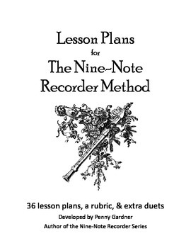 Lesson Plans for Recorder Lessons for Beginners from Nine-
