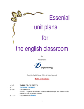 Essential Unit Plans for the English Classroom