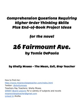 Lesson Plans for the Novel 26 Fairmount Ave.