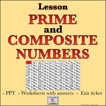 Lesson:Prime and Composite Numbers- PPT, Handouts,Exit Tic