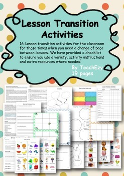 Lesson Transitions for the Classroom