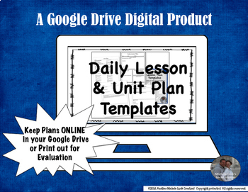 Lesson & Unit Plan Google Drive Templates for Middle or Hi