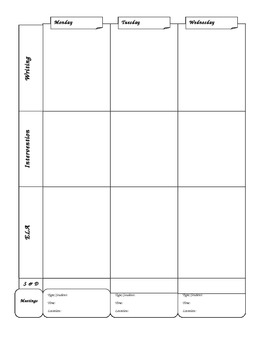 Lesson plan book weekly (customized lesson plan book