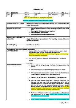 Lesson plan for connectives with teaching assistant instruction