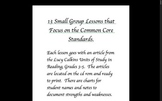 Guided Reading Lessons OLD VERSION Lucy Calkins 3-5 Readin