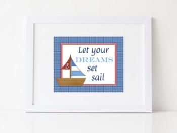 Let Your Dreams Set Sail Poster