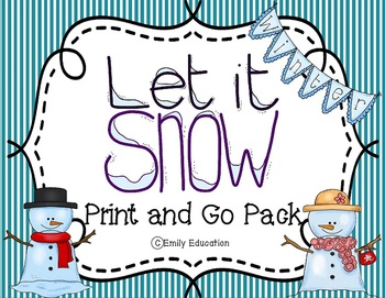 Let It Snow a Winter Print and Go Pack