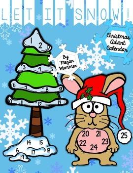 Let it Snow! Christmas Advent Calendar Freebie