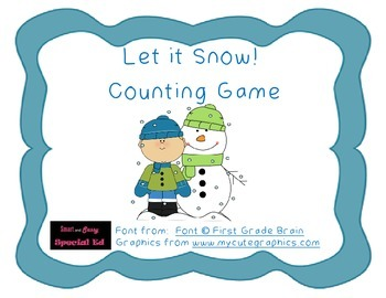 """Let it Snow!"" Counting Game"