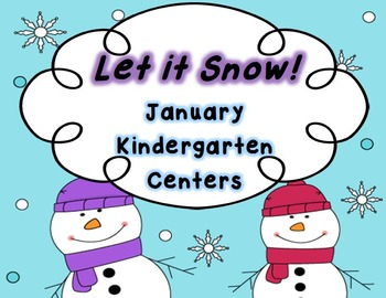 Let it Snow January Kindergarten Centers ~ Penguins & Snowman