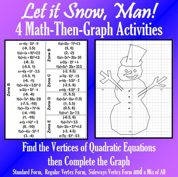 Let It Snow, Man! - Finding Vertices - 4 Math-Then-Graph A