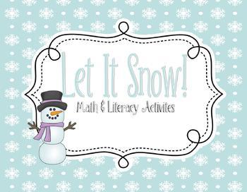 Let it Snow! Math & Literacy Activities